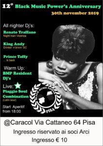 12° Black Music Power 's Anniversary @ Caracol Contemporanea Casa del Popolo